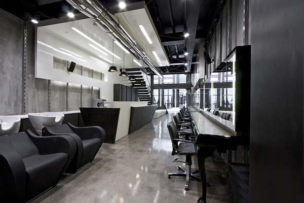 美发店装修效果图 上海家爱建筑