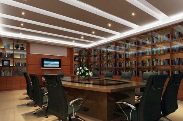 会议室装修效果图_会议室布置图片