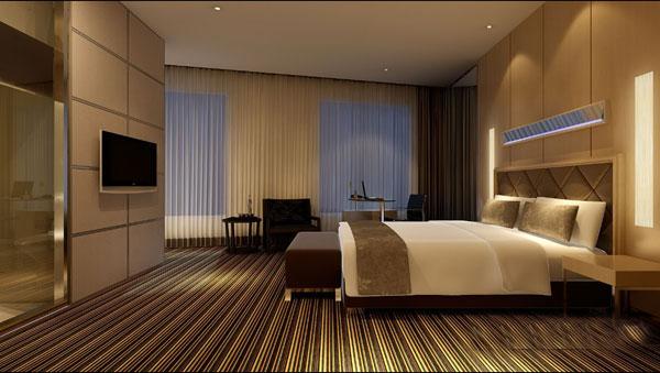宾馆房间装修效果图-上海家爱建筑装饰工程有限公司